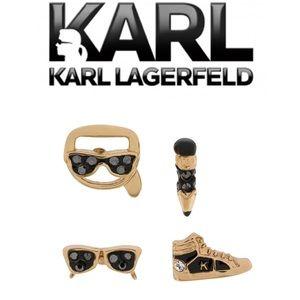 KARL LAGERFELD Mini Charms Stud Earrings
